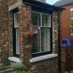 Sash Window Refurbishment with stained glass
