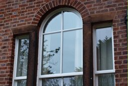 rounded sash windows
